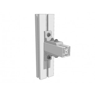 Aluminium right-angled bracket 90x50x10