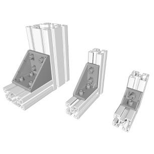 Injected aluminium right-angle bracket