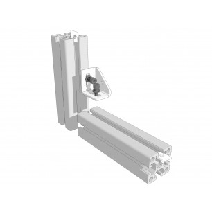 Zinc-plated steel right-angle bracket