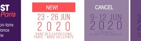 NUEVA FECHA DE MIDEST INDUSTRIE PARÍS 2020 SEGUNDO APLAZAMIENTO COMO MEDIDA PREVENTIVA ANTE EL CORONAVIRUS COVID-19