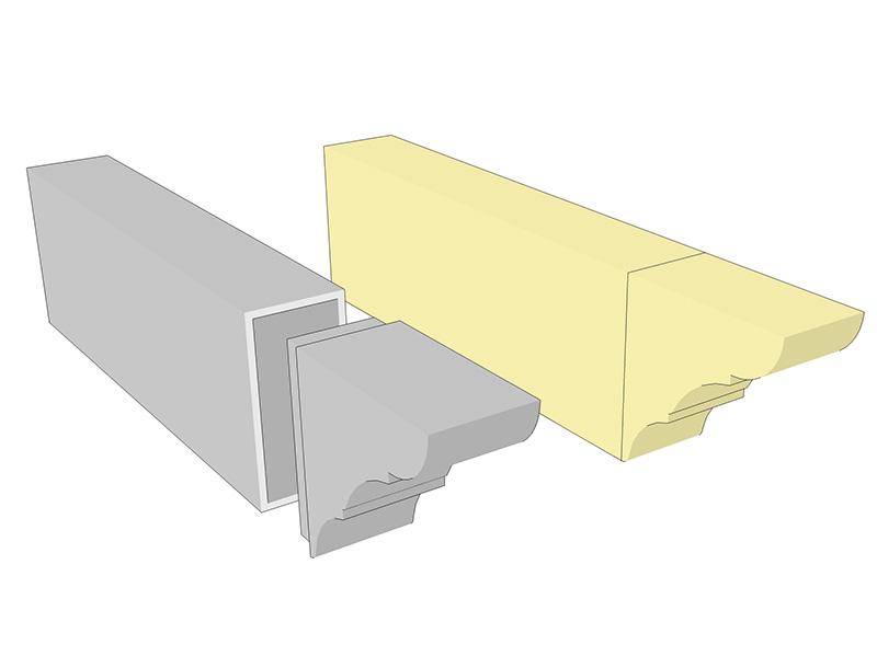 Remate p rgola alu stock s a - Perfiles aluminio para pergolas ...
