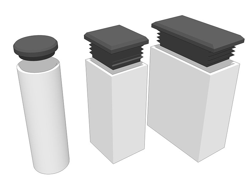 Tubo cuadrado aluminio precio perfect conector de vas rs for Uniones para perfiles cuadrados de aluminio