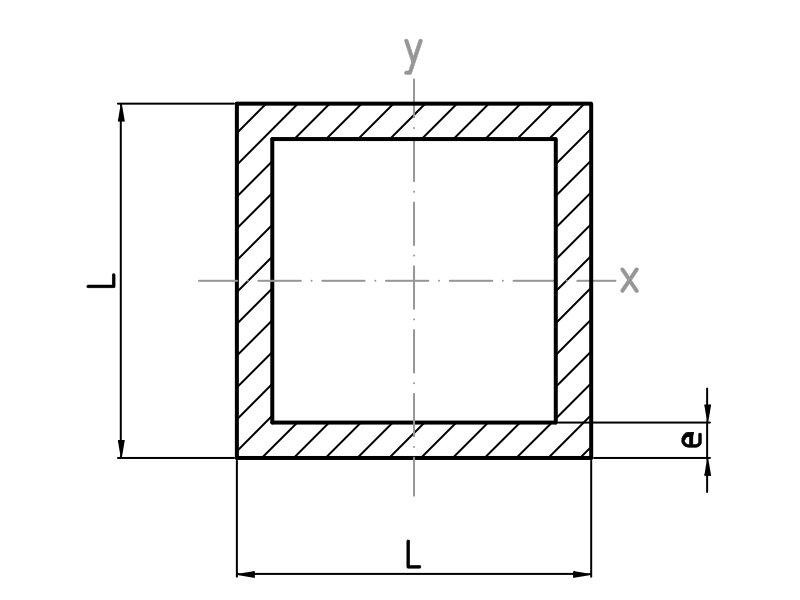 Tubos cuadrados de aluminio alu stock s a - Tubos cuadrados de pvc ...