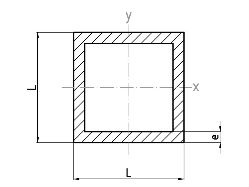 Tubos cuadrados de aluminio · Alu-Stock S.A.