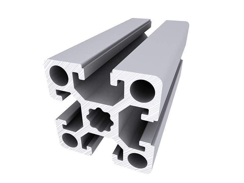 Perfiles modulares aluskit serie 45 alu stock s a - Tipos de perfiles de aluminio ...