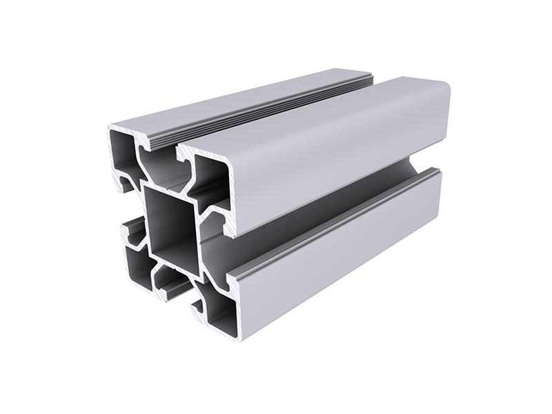 Perfiles modulares aluskit serie 50 100 alu stock s a - Perfil cuadrado aluminio ...
