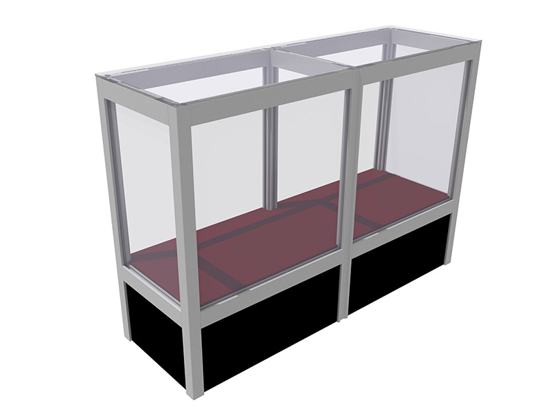 Display applications: glass display cases, display cabinets, shelves,...